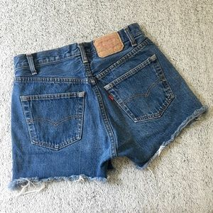 Vintage Levi's High Rise Denim 501 Shorts